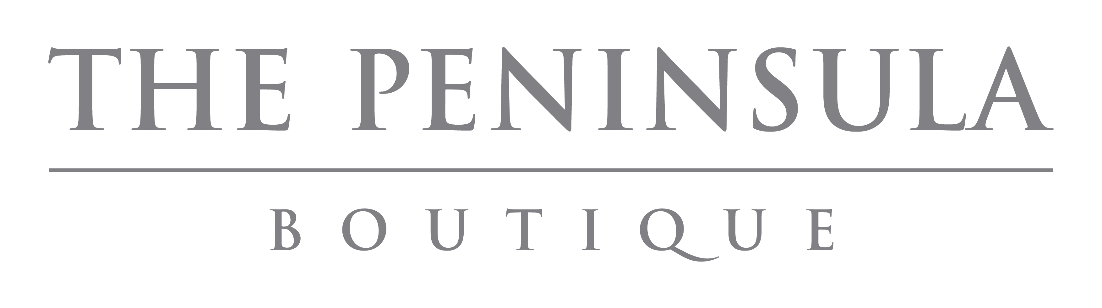 The Peninsula Boutique Logo - English
